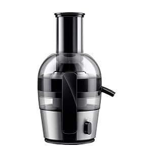 Philips HR1863/00 Centrifugeuse noire 700W, Quickclean nettoyage 1mn, cheminée XL, tamis inversé electro poli, jusqu' à 2L en 1 extraction