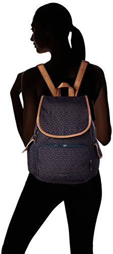Kipling - City Pack, Borse a zainetto Donna Blu (Woven Blue Geo)