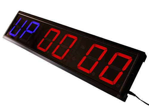 "Eu 4"" 6 Digits Programmable Interval Countdown  / Up Stopwatch Wall Clock"