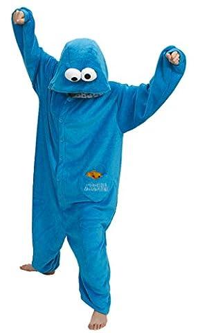 Gillbro Anime Adulte Animal Cosplay Costume Pyjamas, Angry Bird, Bleu,