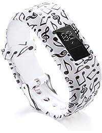 JiaMeng Silicona Banda de Reemplazo Reloj Correa de Reloj de Silicona de reemplazo para Garmin VivoFit