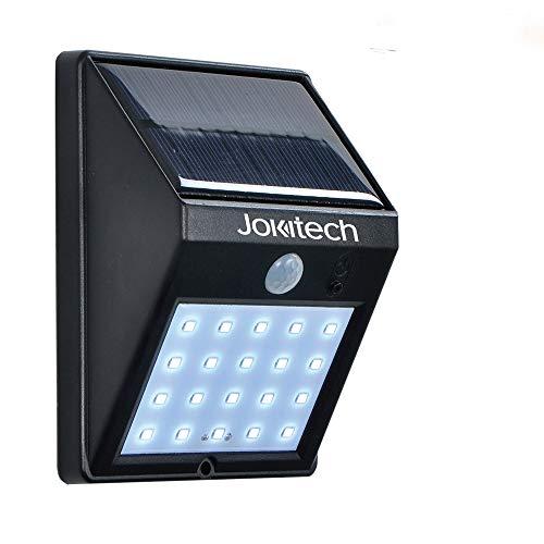 Super helle 20 LED-Solarstraßenlaterne im Freien, Jokitech-Bewegungs-Sensor-Wand-Licht im Freien helles wetterfestes drahtloses Sicherheits-Licht mit der Bewegung aktiviert ON/OFF für Schritt, Garte