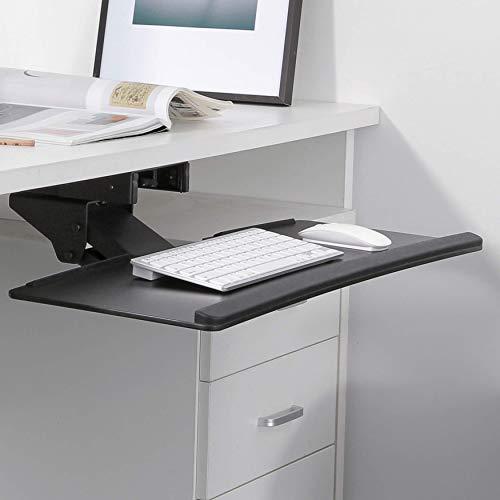 RICOO Tastaturauszug CZ0200 Tastaturhalter Tastaturhalterung Ergonomisch Computer PC Tastatur Schreibtisch Halterung Keyboard Unter Tisch Untertisch Halter Schwenkbar Neigbar Schwarz -