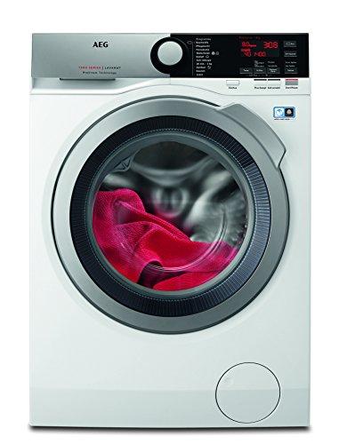 AEG L7FE74485 Waschmaschine / ProSteam -Auffrischfunktion / 8,0 kg / Leise / Mengenautomatik / Nachlegefunktion / Kindersicherung / Schontrommel / Allergikerfreundlich / Wasserstopp / 1400 U/min/Weiß