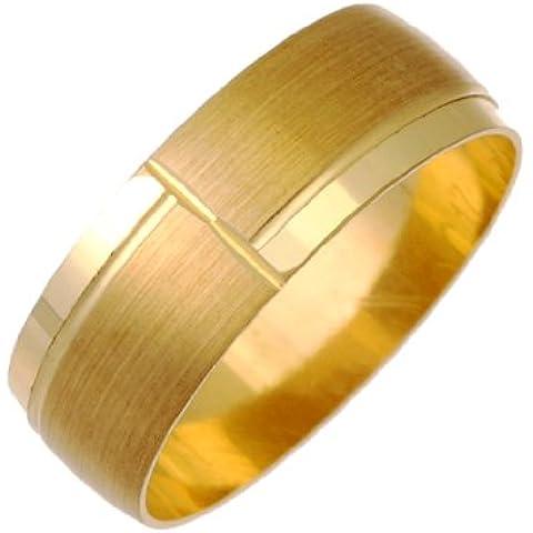 In oro giallo, 9 carati, opaca e lucidata, 7 mm