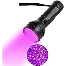 Rejoicing - Linternas ultravioletas de Mano para Mascotas (51 ledes, 395 NM),