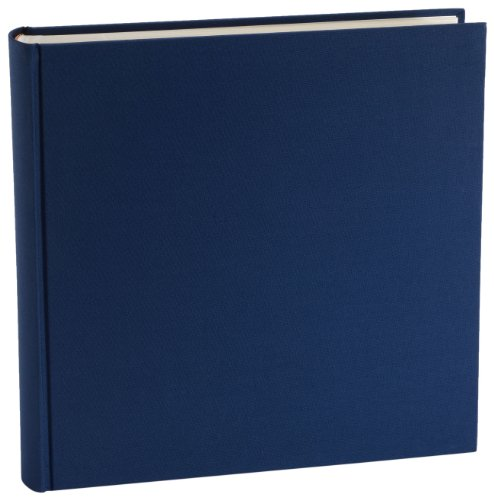 Semikolon Album XLarge, cremeweißer Fotokarton mit Pergaminpapier, 130 Seiten, Marineblau
