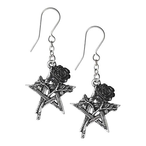 Alchemy Gothic Ruah Vered Droppers Ohrring schwarz/silberfarben - Rock Rose Dropper
