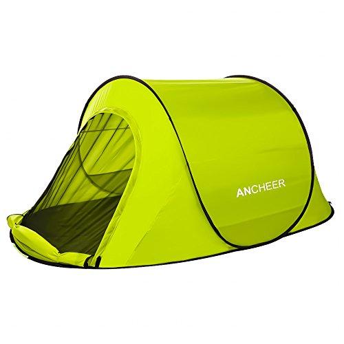 ANCHEER Große Pop Up Backpacking Camping Wandern Zelt Automatische Sofortige Einrichtung Einfache Falten zurück Shelter Travelling Beach Shelter für 1-2 Personen