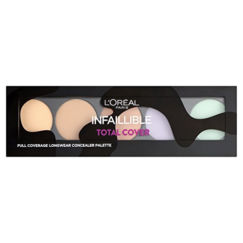 L'Oréal Make Up Designer Paris Infaillible Total Cover Correttore, Palette Copertura Totale a Lunga (Palette Designer)