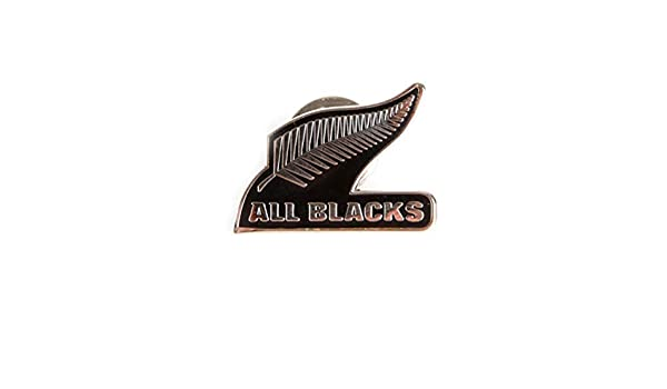 Brand Co Official New Zealand All Blacks Rugby Pin Badge Black Amazon Co Uk Clothing