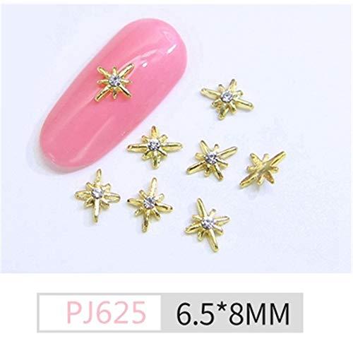 Strass,Nail Star Alliage Lune Perle Métal Décoratif Nail Diy Bijoux Mode Simple Et Élégant, Pj-625 Simple