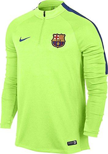 Nike FCB M NK SQD Dril Top T-Shirt FC Barcelona für Herren, Grün (Ghost Green/Game Royal), L