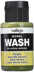 VALLEJO-76503 76503 Model Wash Amarillo Oscuro 3, Color Surtido (
