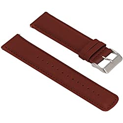 Turnwin Replacement Leather Bands for LG LGW110 G Watch R Smartwatch (Brown)
