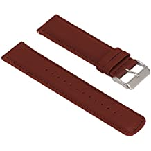 Turnwin for Fossil Q Nate Gen 2 Hybrid Straps Wristbands, 1pc Replacement Leather Bands for Fossil Q Nate Gen 2 Hybrid Only (Brown)