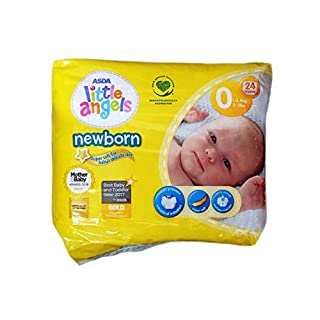 ASDA Little Angels Newborn Tiny Baby Nappies Size 0