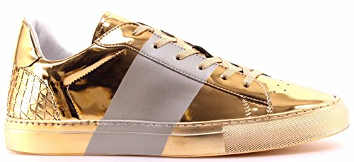 zapatos-hombre-sneakers-dirk-bikkembergs-sport-couture-gold-shiny-made-in-italy