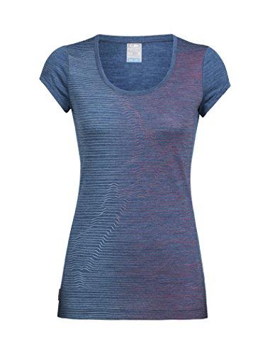 Icebreaker Damen Sphere SS Scoop Cool Relief T-Shirt, Prussian Blue Hthr, L