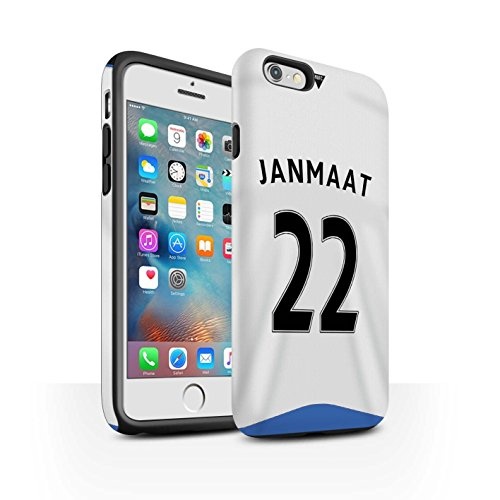 Offiziell Newcastle United FC Hülle / Matte Harten Stoßfest Case für Apple iPhone 6S+/Plus / Coloccini Muster / NUFC Trikot Home 15/16 Kollektion Janmaat