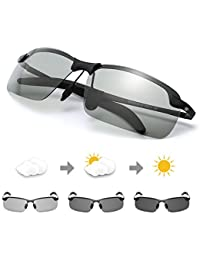 12eeec7b5ed2da TJUTR Homme Lunette De Soleil Photochromiques Polarisées Conduite Pêche  Golf Eyewear 100% UVA UVB Protection