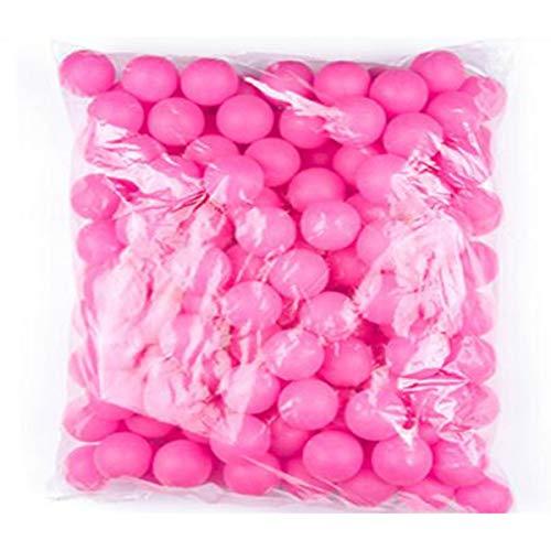 Aishanghuayi-ou Tischtennisbälle, Lotterie Tischtennis Farbe No Word 150 Anzahl Bälle Farbe Tischtennis Blank, kann die Anzahl der farbigen Bälle ausfüllen Stark (Color : Rose red)