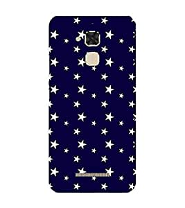 PrintVisa Designer Back Case Cover for Asus Zenfone 3 Max ZC520TL (5.2 Inches) (Deauville Stars Design :: Blue Star Pattern :: Nice Star pattern :: blue sky fabric Design :: fabric Knights Navy blue)
