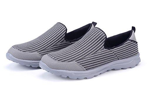 Santiro Herren Walkingschuhe Low-Top Slip-On-Sneaker Grau1