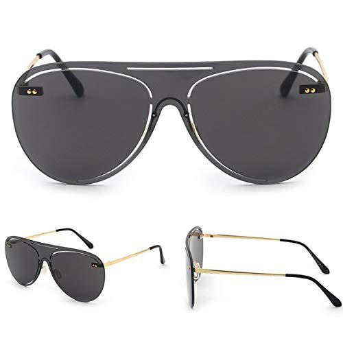 2019 Fashion One Piece Pilot Sonnenbrille Sommer Gradient Randlos Sonnenbrillen Aufmaß Metallrahmen UV400,4