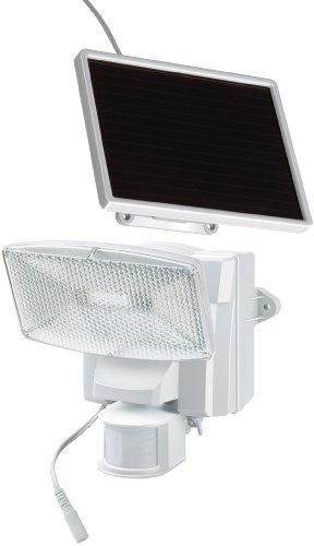 Brennenstuhl LED-Strahler SOL plus / LED-Leuchte für außen mit Bewegungsmelder und Solar-Panel (IP44, inkl. Akku, 8 x 0,5W) Farbe: weiß