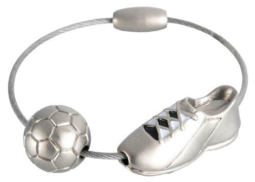 Troika - KYC50/MA - Schlüsselanhänger Fußballschuh KICK, schwarz/weiss