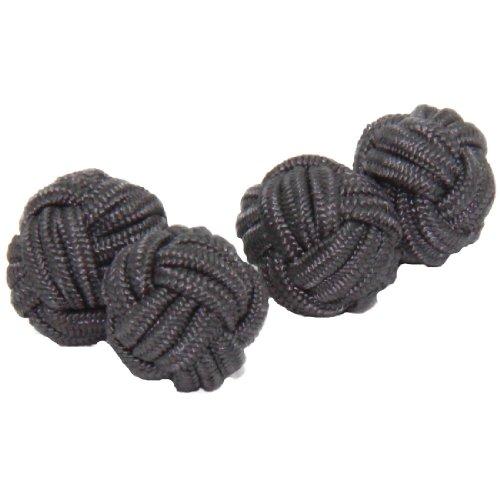 graphite-grey-silk-knot-cufflinks-cuffs-co