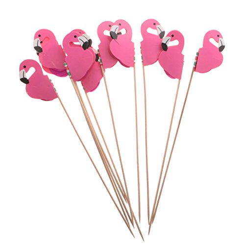 Sharplace 10 Stück flamingo Form Cupcake Food Picks Topper Tropical Party (Tropical Dekorationen Party)