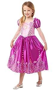 Princesas Disney - Disfraz de Rapunzel Deluxe para niña, infantil 5-6 años (Rubie