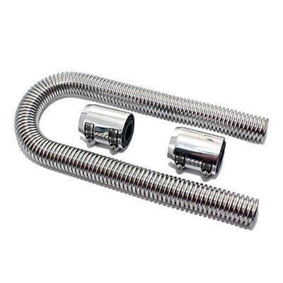 Ting AO 91,4cm poliert Flexible Kühlerschlauch-Kit aus Edelstahl Chrom Kappen können verwendet werden, mit 11/10,2cm 11/5,1cm oder 13/10,2cm Heizkörper Hals. (Hals Heizkörper)