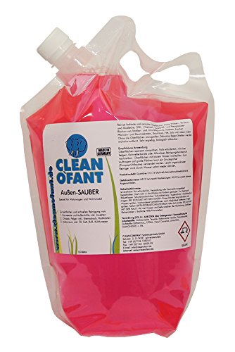 CLEANOFANT Außen-SAUBER 2,3 Liter - Spezieller Reiniger für Wohnwagen, Wohnmobil, Caravan, Vorzelt - das moderne Shampoo vereint Außenreiniger, Insektenentferner, Felgenreiniger, Motorraumreiniger