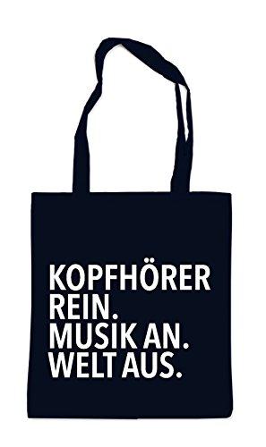 Köpfhörer Rein - Musik An Bag Black