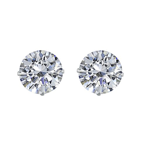 MUUII �Starlight� 925 Sterling Silver Stud Earrings made with Cubic Zirconia Swarovski � crystals � Emerald Cut - Stunning Diamond Like Shine