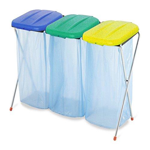 *WOLTU® 3er Müllsackständer Abfallbeutelhalter Abfall Abfalleimer HalterungPlus 3 Müllsackständer ME4716M3*