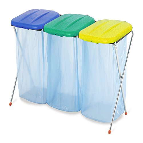*Müllsackständer 3er Abfallbeutelhalter Abfall Abfalleimer HalterungPlus 3 Müllsackständer ME4716M3*
