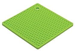ADITYA INFO Silicone Square Pot Holder Flexible Honeycomb pattren Non-slip Durable Heat Resistant Placemat Table Mat