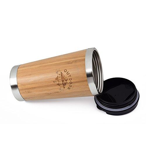 Kaffee Thermobecher aus Bambus von OUTDOOR FREAKZ – 450 ml - 4