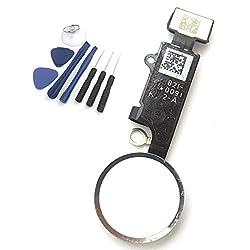 enoaFIX Ersatz Home Button kompatibel mit iPhone 7 und iPhone 7 Plus in Weiss + Werkzeug Set