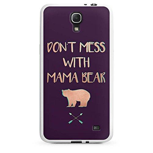 Samsung Galaxy Mega 2 Hülle Silikon Case Schutz Cover Mama Bär Muttertag Mutter (Mega-mutter)