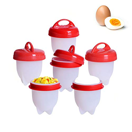 Jall 6 Cuit Oeufs Pocheuse Silicone - Oeuf Cuisson Egg...