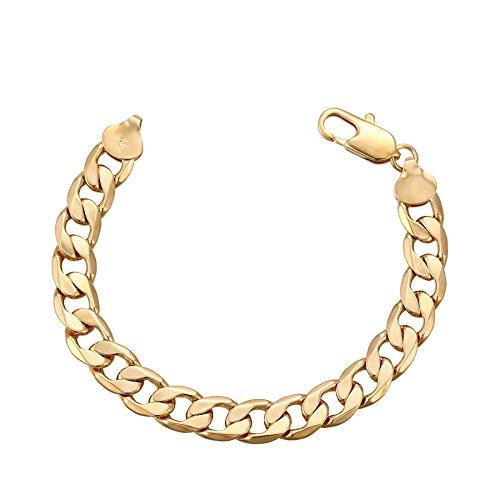XUPING 18 K Gold color-plated Herren Armband (Dünne Gold Armbänder Armreifen)
