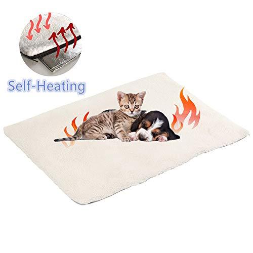 Manta autocalentable para Gatos & Perros,Manta Eléctrica para Mascotas Prueba de Agua...