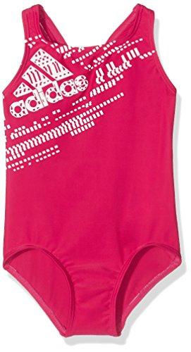 adidas BTS 1PC PL KG - Badeanzug Kinder, Farbe: pink / weiß, Größe  104