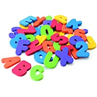 LJSLYJ 36Pcs Bath Toys Letters and Numbers Sticker Early Educational Tool for Baby Bath Time Fun