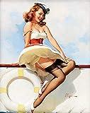 Vintage Pin Up Fille Affiche 0013 . Divers Tailles - A4 - 21cm x 29cm